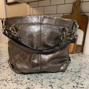 Coach Metallic Silver purse No C1176-F17165